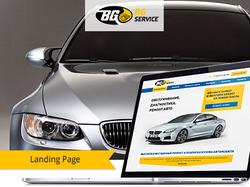 Дизайн лэндинга для автомастерской BG Service