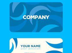Дизайн пластиковых карт/визиток.