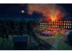 Пожар в Большом Оолте