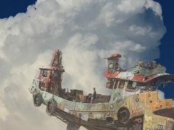 Корабль Ian McQue'я поднялся в небо