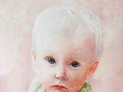 Портрет ребенка акварелью