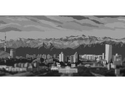 Рисунок в photoshop город Алматы