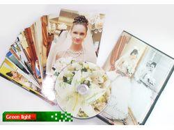 Свадебный диск и коробка