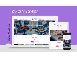 Адаптивный сайт для Candy Bar