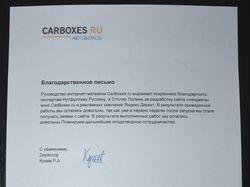 Отзыв от CarBoxes.ru