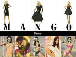 Главная страница сайта магазина Манго
