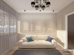 Дизайн интерьера гостиной в неоклассике