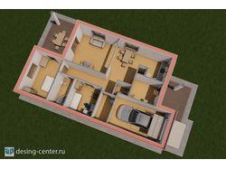 Визуализация 1-этажного дома