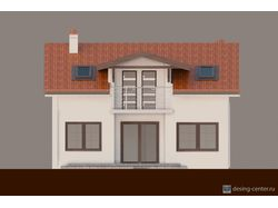 Визуализация дома с мансардой