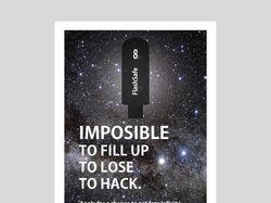 Дизайн рекламного плаката бесконечной USB