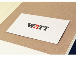 Лого магазина электрики Watt