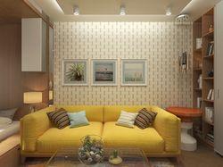 Дизайн-проект 1 к.кв (спальня-гостиная)
