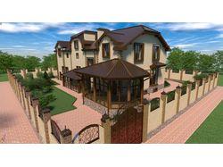 Проект жилого дома с ландшафтным дизайном