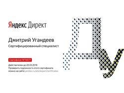 Сертификат Яндекс-Директ