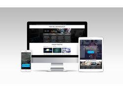 Дизайн Landing Page для видеостудии WooX Video