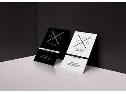 Дизайн визитки для видеостудии WooX