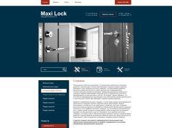 Бизнес-сайт с каталогом дверей
