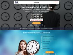 PSD to HTML Conversion - Time Management landing