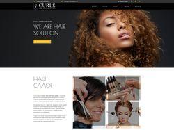 Curls landing page