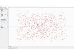 Симуляция роя частиц. c# + GDI+
