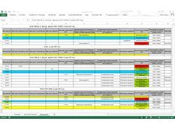 Excel. Сравнение данных по судебным делам