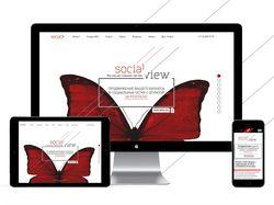 "Сайт для рекламного агентства ""Social view"""