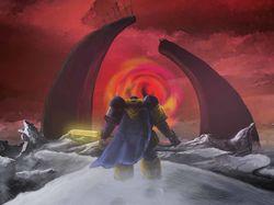 Рисунок по мотивам вселенной Warhammer 40k