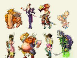 Концепты мультипликационных персонажей