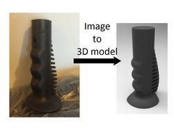 3D модель по фото.