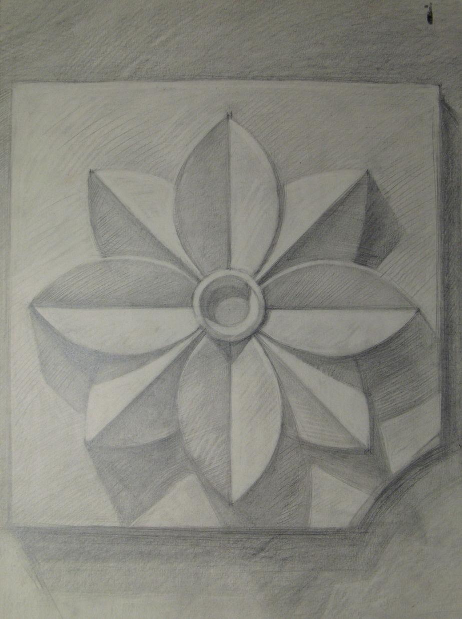 Поэтапное рисование розетки