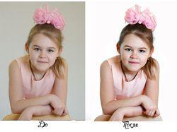 обработка детских портретов