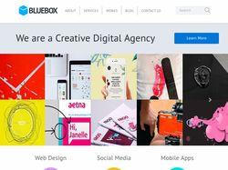 Сайт для креативного агенства BLUEBOX
