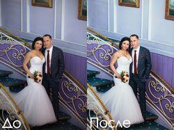Цветокоррекция свадебного фото.
