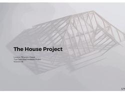Проект частного дома, с акцентом на крышу.