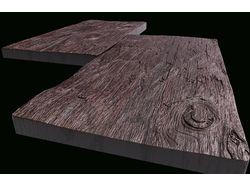 Модель для ЧПУ,комплект 2 камня 250х500х40мм.