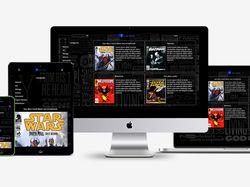 Верстка сайта-читалки для комиксов