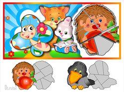 отрисовка персонажей и адаптация к детскому пазлу