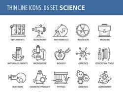 Набор иконок на тему науки
