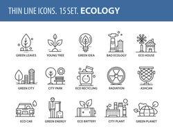 Набор иконок на тему екологии