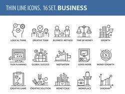 Набор иконок на тему бизнеса