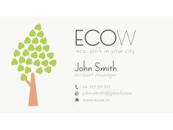 Разработка визитной карточки ECOW