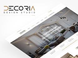 Сайт-визитка для студии интерьерного дизайна
