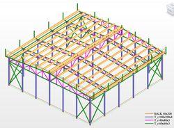 Расчет металлоконструкции навеса 12х12м.