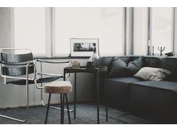 Визуализация квартиры-студии в стиле Лофт