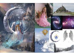 """Photo Art """"Girl-Angel and Moon"""""""