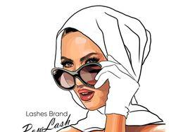 Серия фэшн-иллюстраций POW LASH