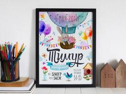 Постер на рождение мальчика