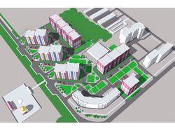 Перспектива жилой многоэтажной застройки