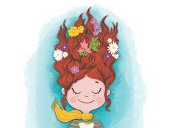 Книжная детская иллюстрация