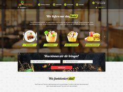 Дизайн сайта для сервиса по доставке еды